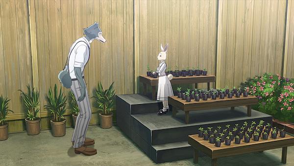 アニメ『BEASTARS』第2話「学園の心臓部は庭園にあり」あらすじ①
