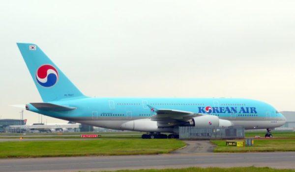 事件に巻き込まれた大韓航空のエアバスA380型機