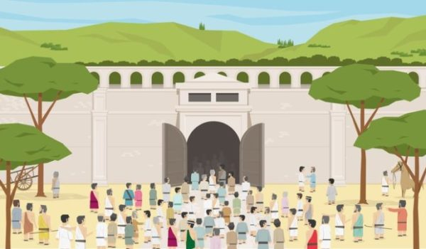 古代オリンピック観客