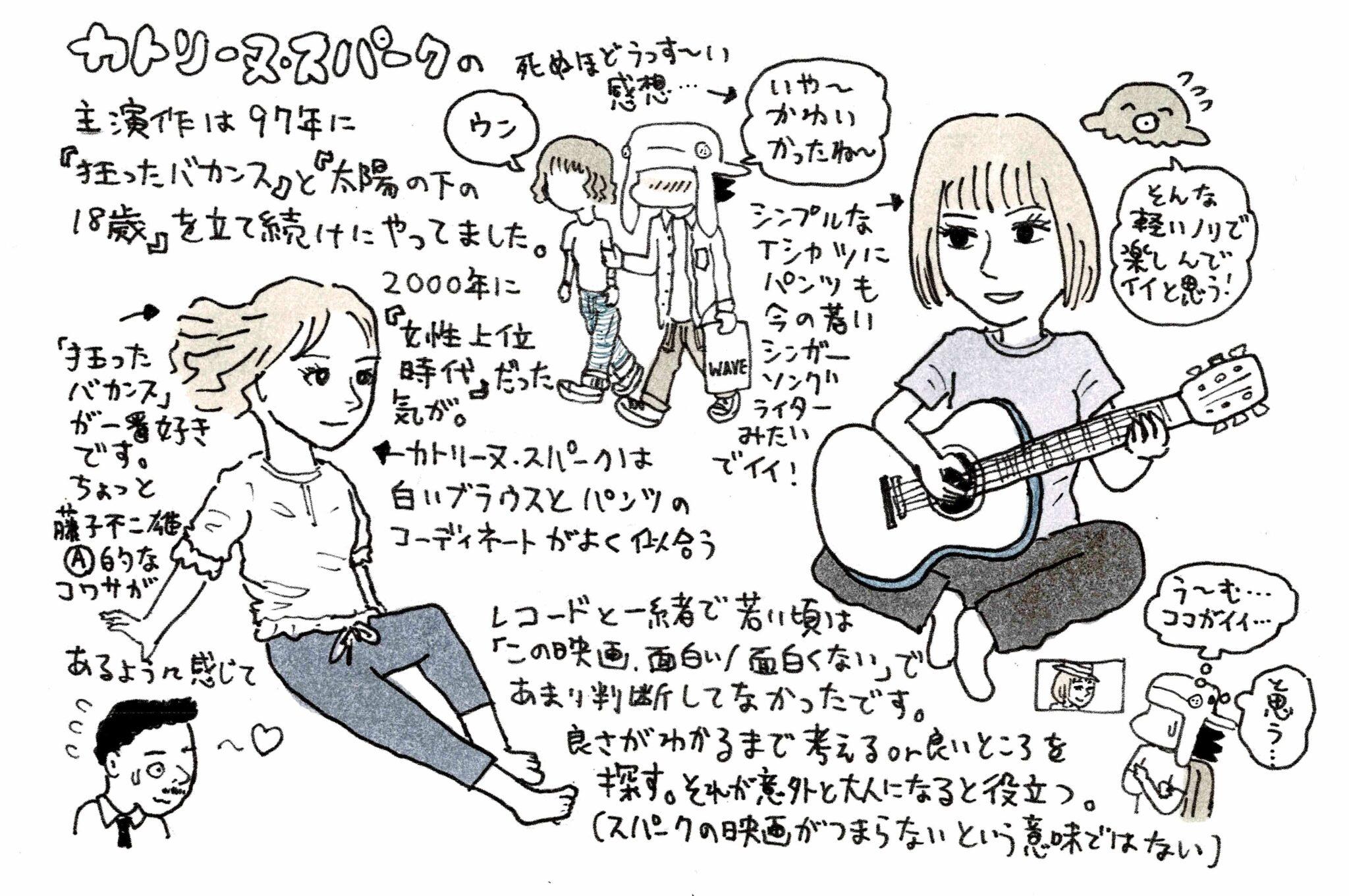 『カトリーヌ・スパーク レトロスペクティブ』渋谷直角イラスト